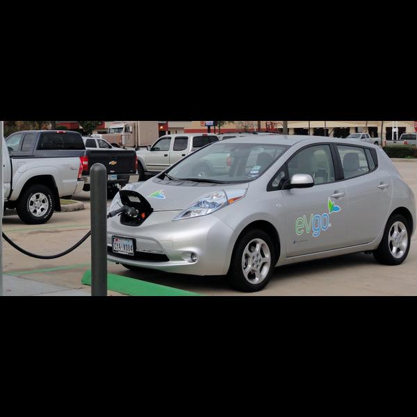 Nissan Leaf recharging