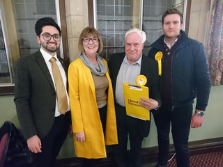 Broxbourne Lib Dems with candidate David Payne