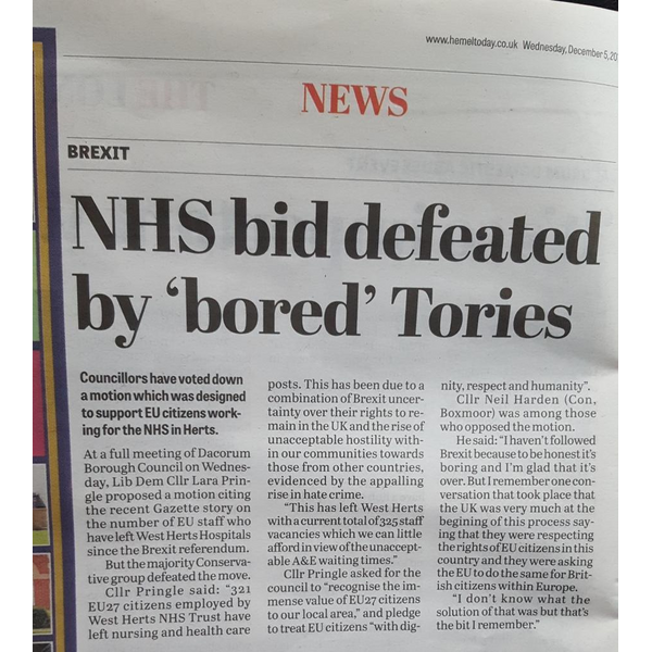 Bored Tories defeat Motion